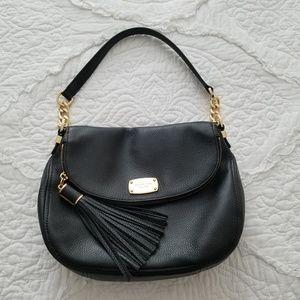 Michael Kors Black Leather Convertivle Handbag